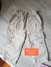 H&m plátěné kalhoty vel. 86 top stav, h&m,86