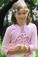 Růžové háčkované bolerko (cca 4-8 let), 104