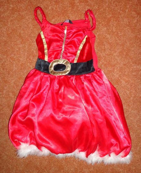 Kostým šaty paní santová, george, vel. 3-4 roky.,