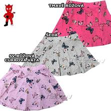 Nové zboží krásná bavlněná sukně pro holky, 98-128, wolf,98 - 128