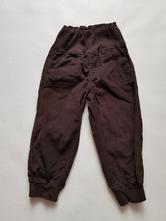 Hnědé manžestrové kalhoty, lupilu,92