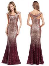 Večerní šaty dlouhé s flitry vel 40, ever-pretty,40
