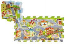 Pěnové puzzle město 32x32x1 cm (8 ks),