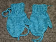 Pletené rukavice pro kluka vel 6-12 měsíců, 74