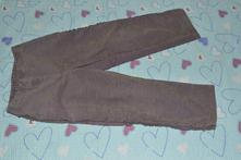 Slabé manžestrové kalhoty, lampasy s kanýrky, 110
