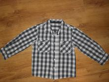 Černobílá košile 3-4, matalan,104