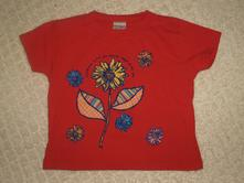 Dětské tričko s kytičkou h&m, h&m,92