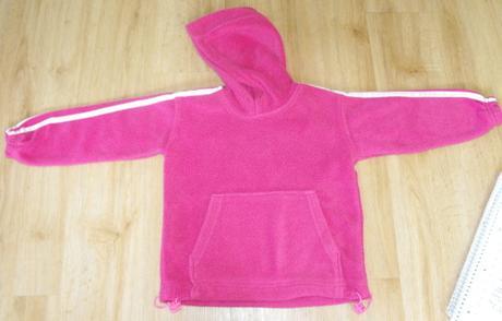 E15-růžová teplá flaušová mikina, 98