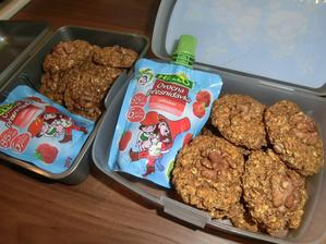 Oříškové sušenky z ovesných vloček, přesnídávka