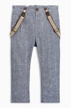 Lněné kalhoty s šlemi next, velikost 86, next,86