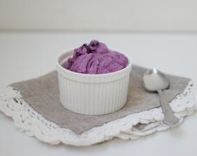 Tvarohovo-borůvková zmrzlina - luxusní!