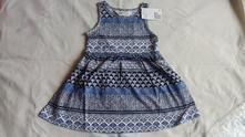 Modrobílé letní šaty h&m, h&m,92