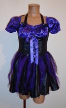 Kostým šaty tanečnice, čarodějnice, vel. s., s
