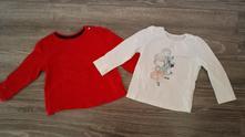 Dvě trika s dlouhým rukávem, mothercare,80