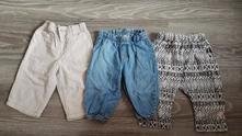 Troje letní kalhoty vel.68-74, h&m,68