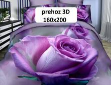 3d přehoz 160x200 růže fialová - skladem, 3dpr-2,