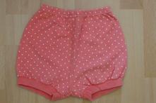 Růžové puntíkaté pumpky - šortky, 68