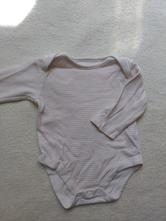 Růžovo bílé dlouhé pruhované body, f&f,62