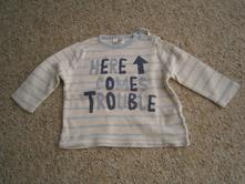 Pruhované tričko, vel. do 3m, f&f,62