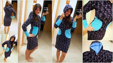 První šaty, co jsem šila jen tak, aniž by předem měly určenou majitelku.. tak uvidíme, kdo se v nich najde.. <3