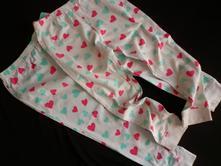 Vel. 110 pyžamové kalhoty srdce - 2 kusy, 110