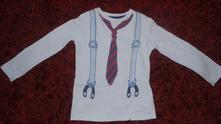 Parádní tričko s kravatou a kšíry - vel. 92., pepco,92