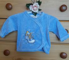 Modrý plyšový kabátek pro miminko ergee, ergee,56