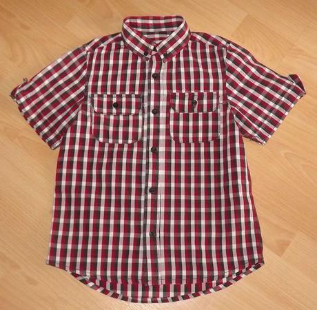 Chlapecká kostkovaná košile s krátkým rukávem, rebel,140