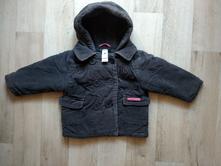 Manžestrový kabátek na zimu, baby club,80