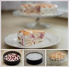 Tvarohový nepečený dort s malinami