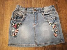 Džínová sukně s výšivkou, kiki&koko,122