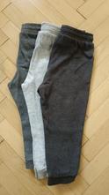 3x šedé tepláky, h&m,92