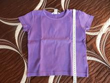 Tričko krátký rukáv fialové, h&m,104