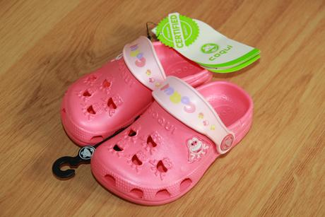 Pantofle coqui - růžové, vel. 24-25, stélka 14 cm, 24