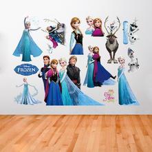Samonalepovací dekorace frozen ledové království,