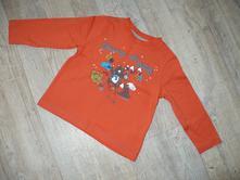 Oranžové tričko s medvědy, tesco,86