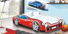 Dětská postel - auto speed - červené, 80,180