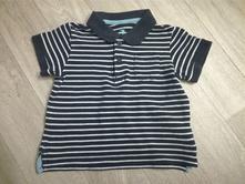 Modrobílé pruhované polo tričko lupilu, vel.86/92, lupilu,86