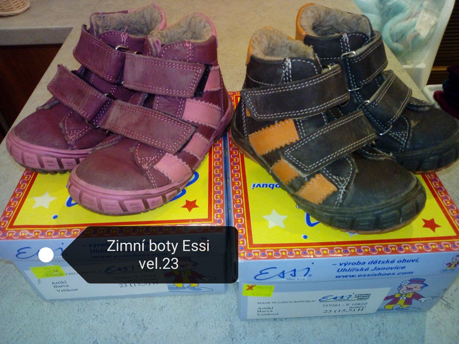 Zimní boty essi vel.23 c1c524cc52