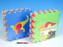Pěnové puzzle dinosauři 30x30cm 10ks v sáčku,