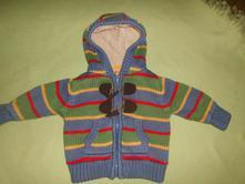 Teplý svetřík na zip, marks & spencer,62