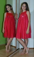 Malinově růžové tylové společenské šaty, vertbaudet,152