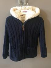 Pletený kabátek s kožíškem, marks & spencer,104