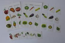 Přirazovací karty - zelenina,