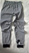 Vel. 134 černobílé pyžamové kalhoty s mickey mouse, 134