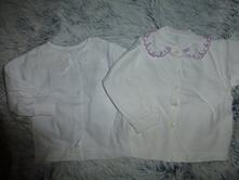 2krát bílá košilka 0-6m, 62