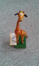 Žirafa mačkací, hýbací nová -dřevo,