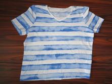 Pěkné modrobílé pruhované tričko 42/44, 42