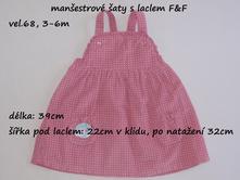 Manšestrové šaty s laclem f&f, f&f,68