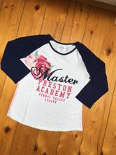 Bílo-modré triko s obrázkem zn. h&m, h&m,158